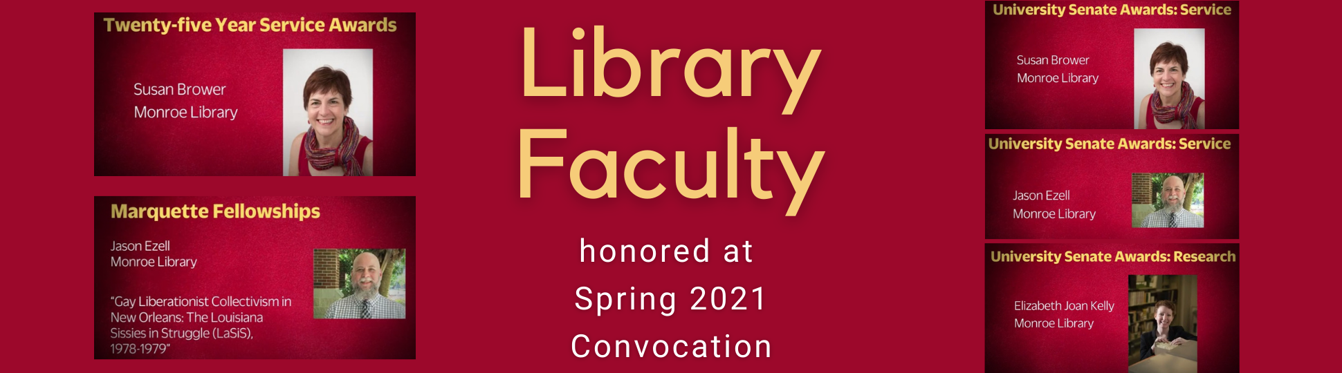 Library Faculty honored at Spring 2021 Convocation